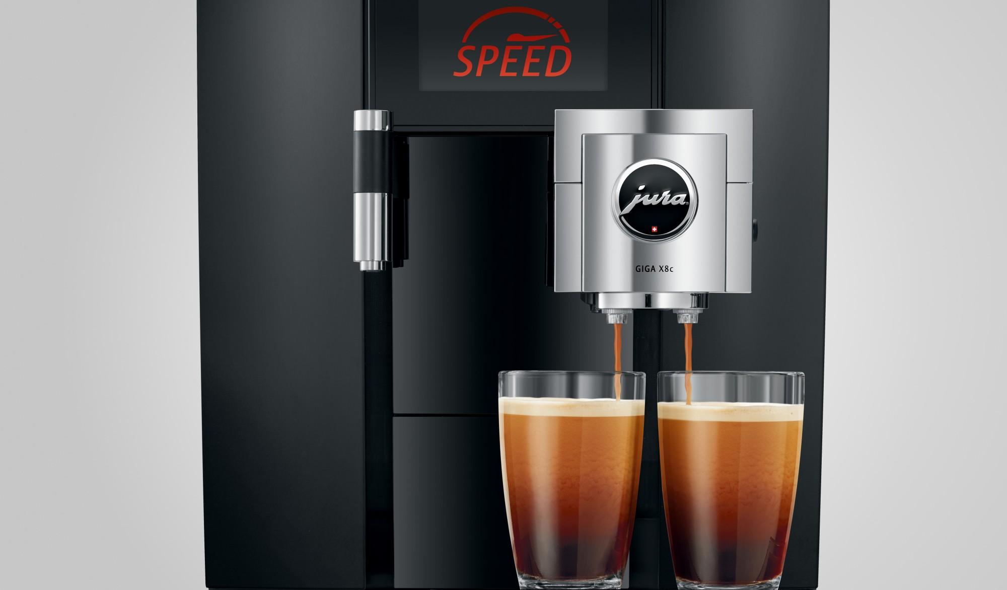 Zet snel twee koppen koffie met de speedfunctie