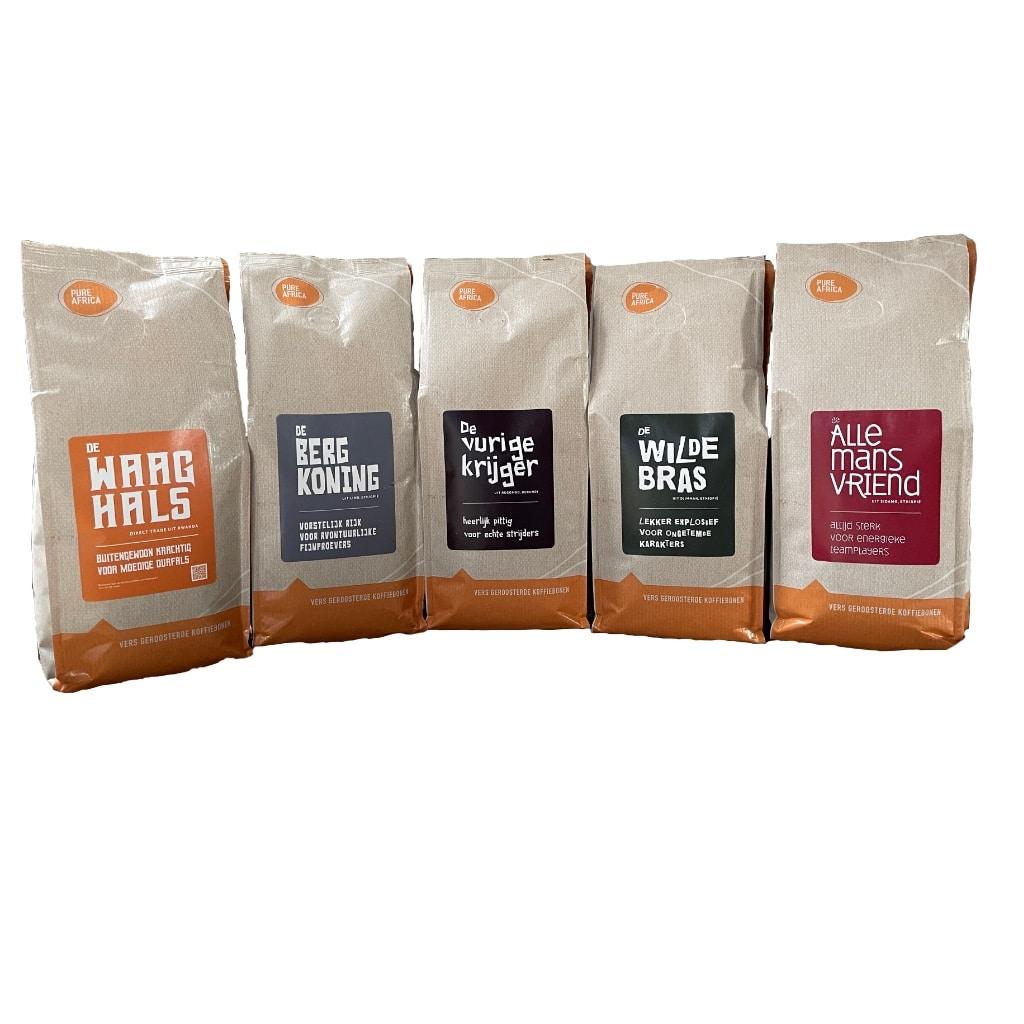Koffiebonen proefpakket online bestellen bij Pure Africa