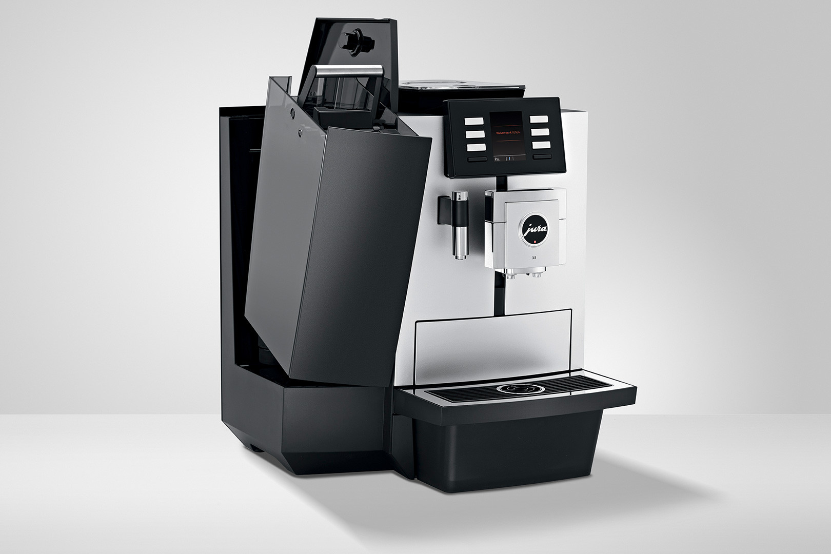 Koffiemachine met een grote watertank