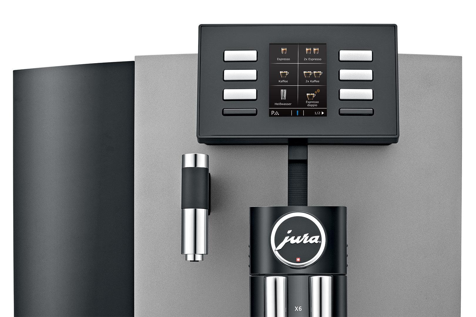 Jura X6 Professional Dark Inox koffiemachine voor kantoor