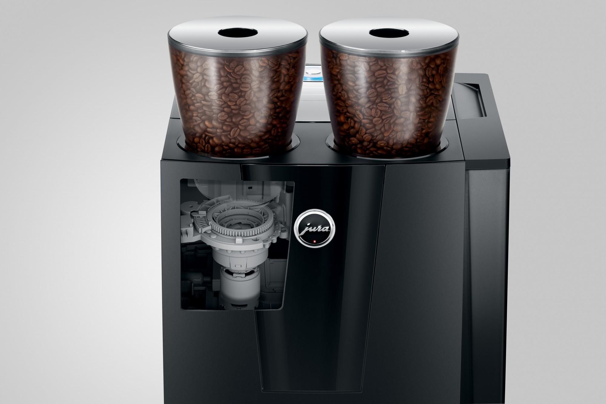 Hoge snelheid door dubbele koffiemolen