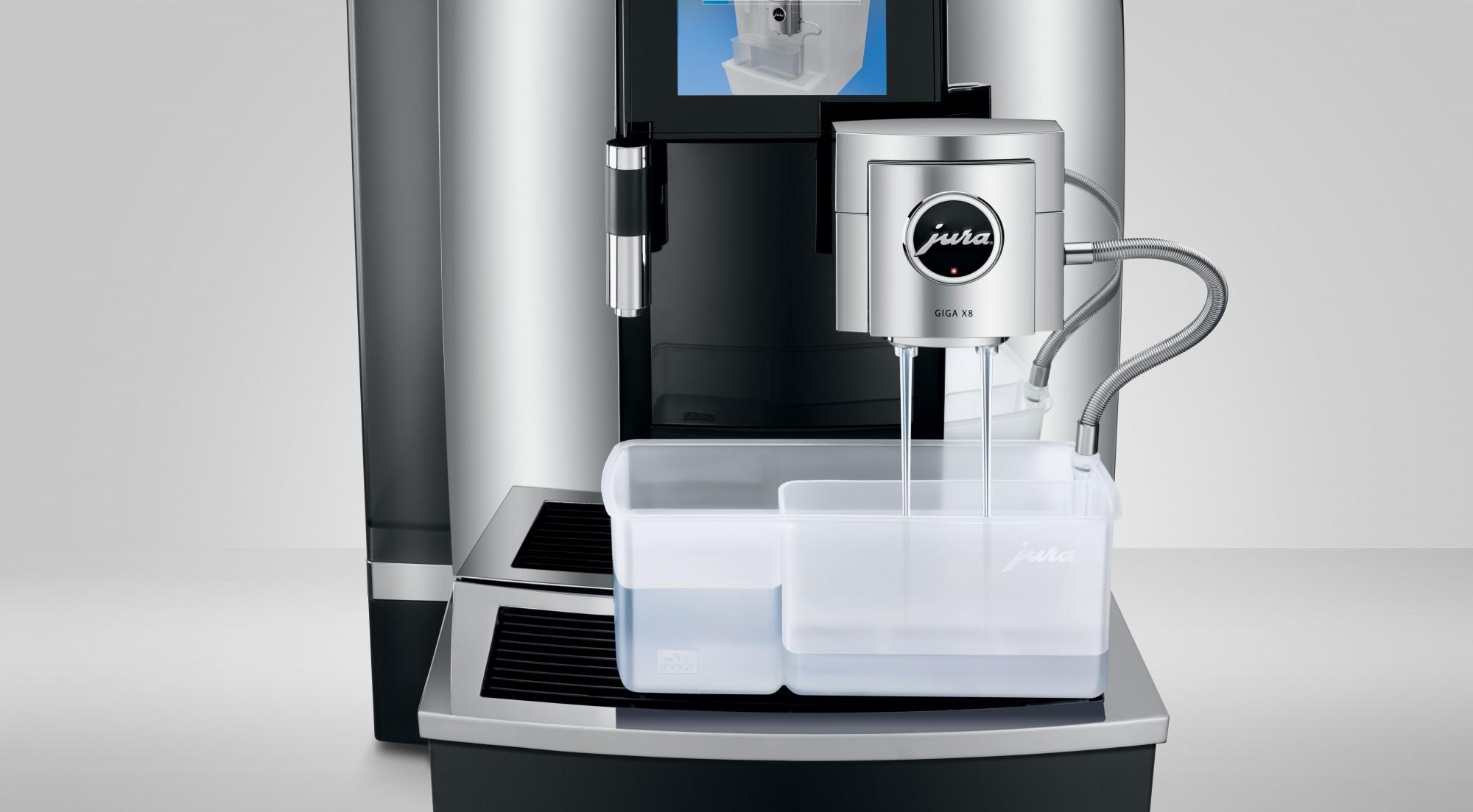 Eenvoudig melksysteem reinigen met Jura X8