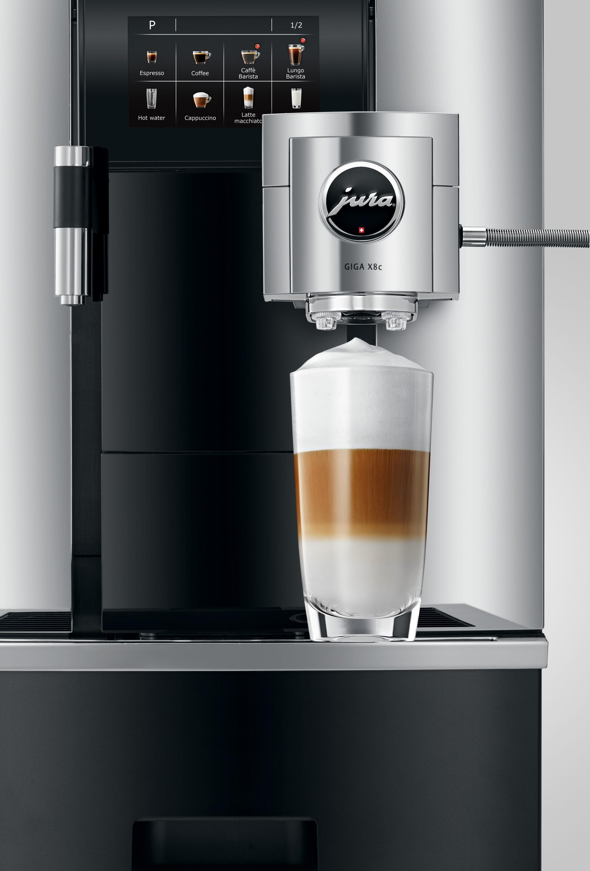 Met een druk op de knop maak je latte macchiato