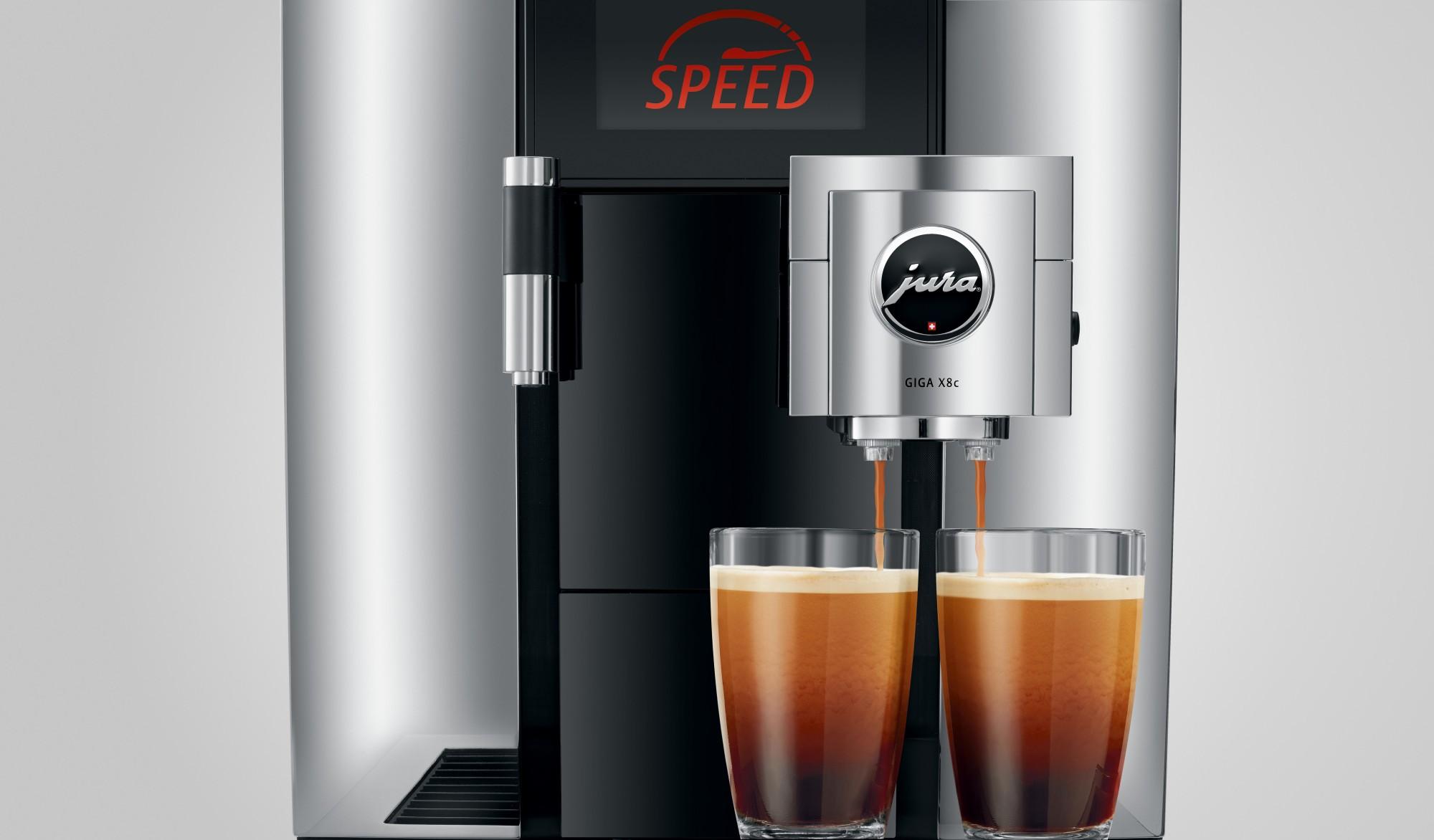 Snel twee kopen koffie zetten met de speedfunctie op de Jura GIGA X8c chroom