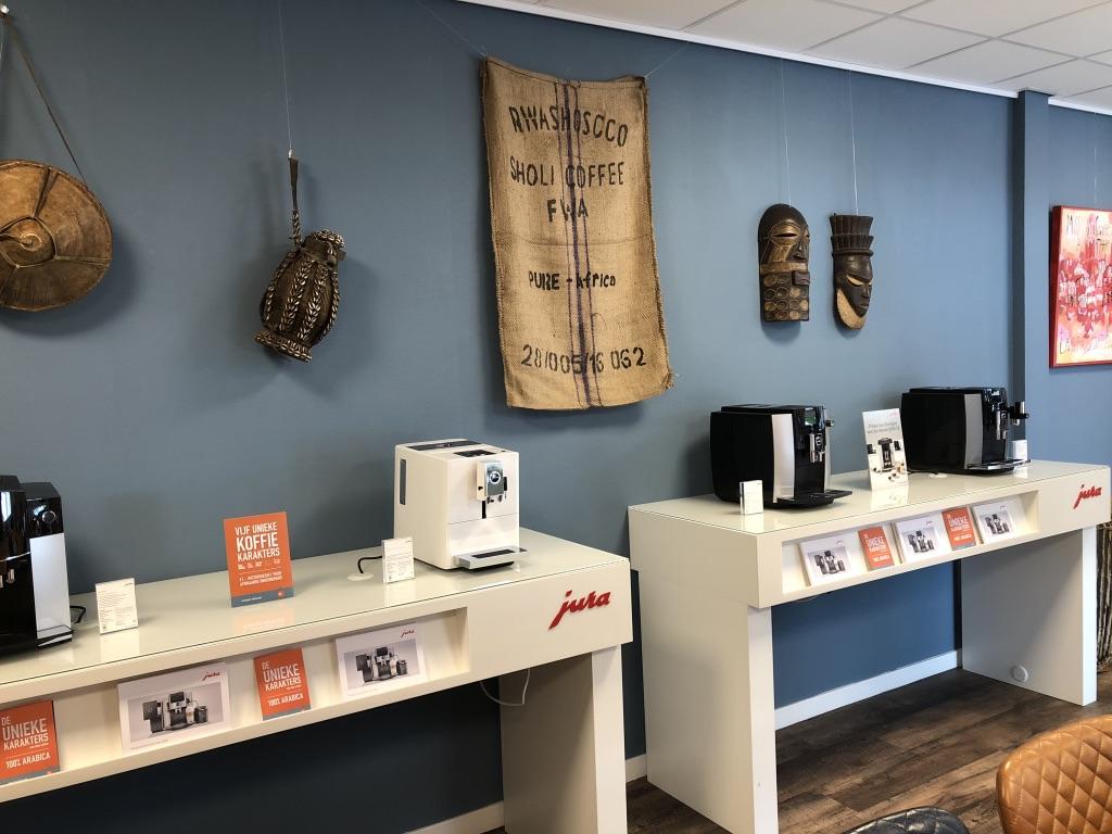 Showroom Jura koffiemachines gesloten