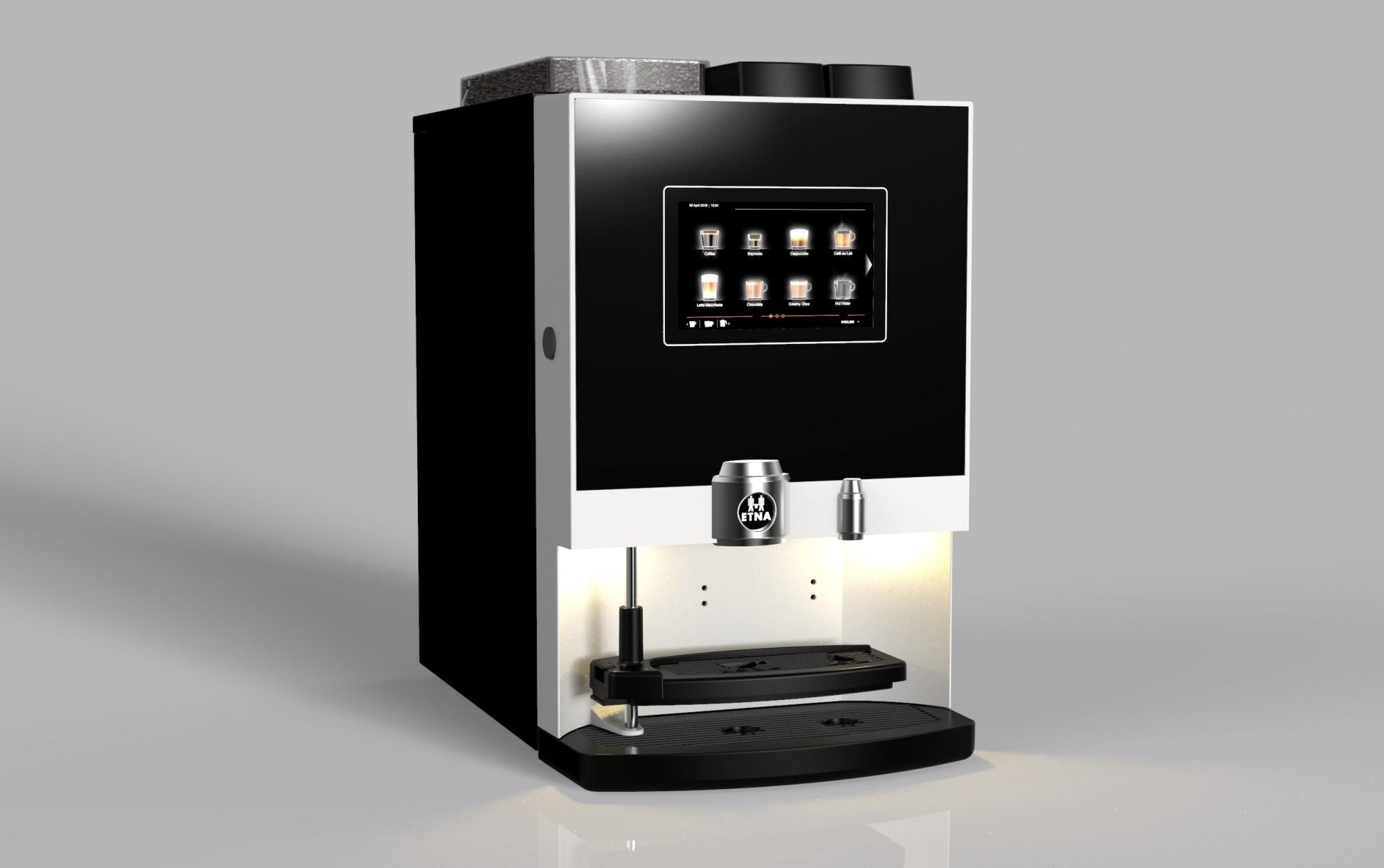 Compacte koffiemachine voor kantoor